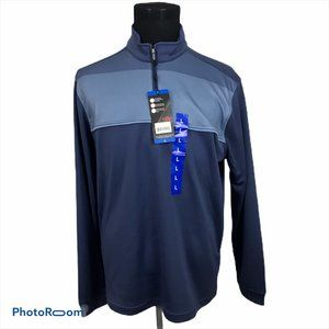 Bolle Performance 1/4 Zip Blue Pullover